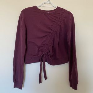 garage purple/maroon crew neck sweater